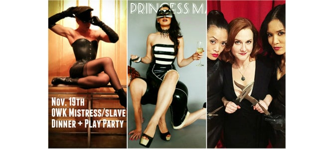 Nov 19: OWK-Style Mistress Slave Dinner + Play Party